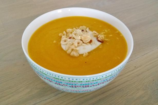pompoen wortel linzen soep (6)