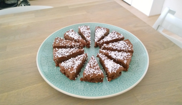 chocolade kokos taart