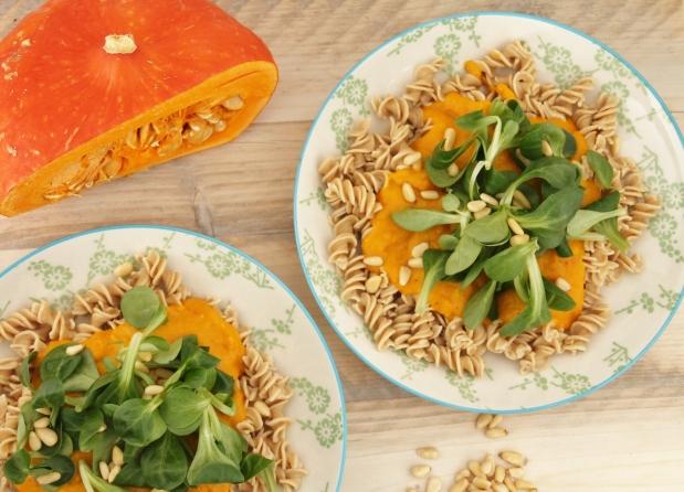 quinoa pasta pompoen puree (3)