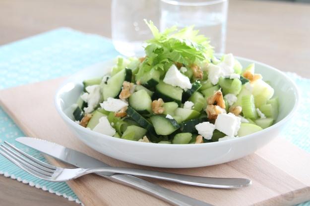 bleekselderij komkommer salade